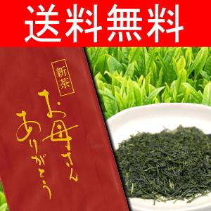 長峰製茶のまろやか新茶100g ミニカーネーション付き